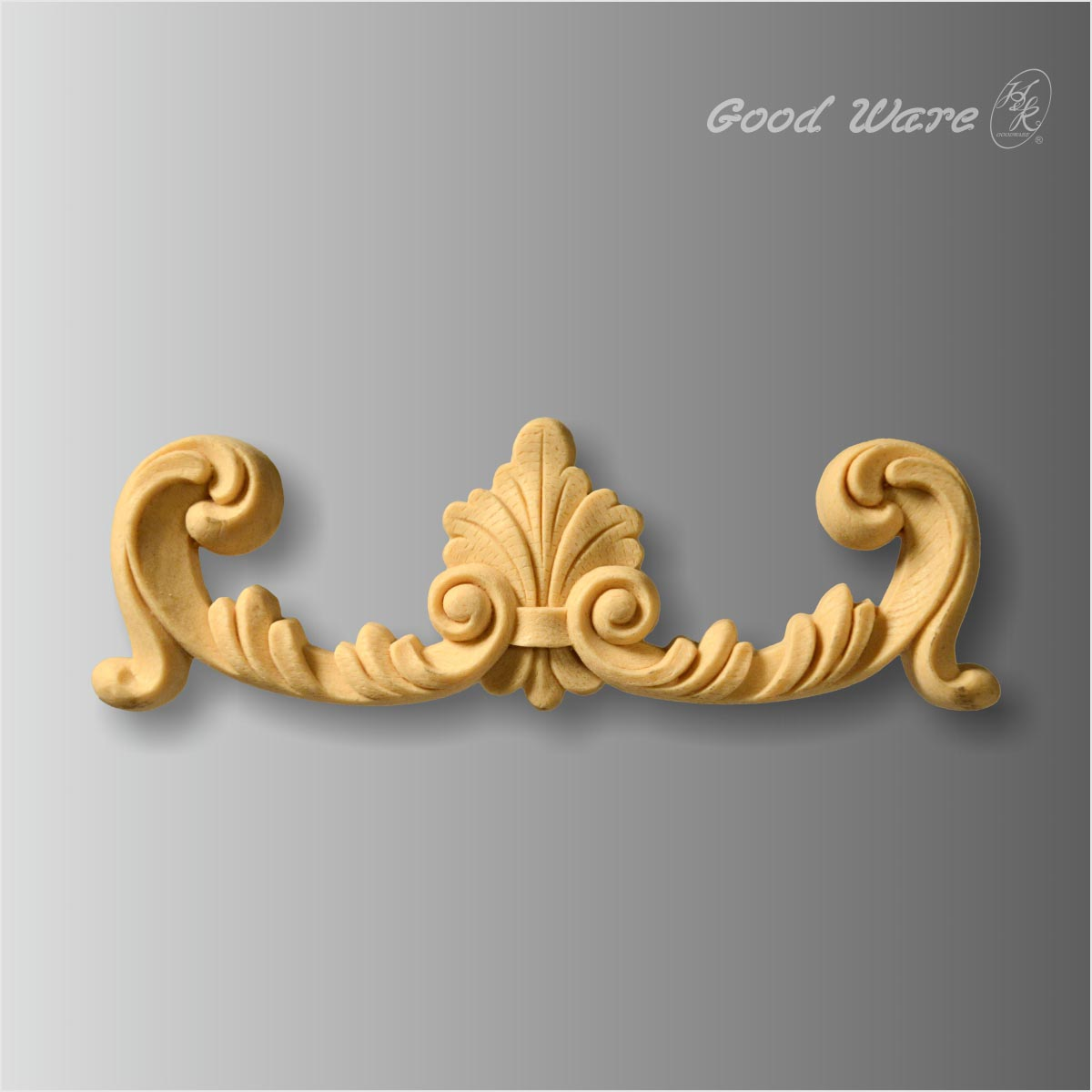 Polyurethane scroll flower applique for sale