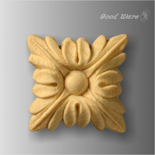 Faux wood decorative furniture appliques