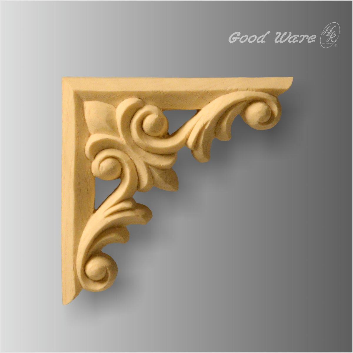 Carved faux wood onlays corner for furniture