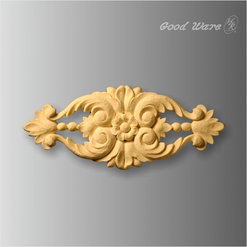 Polyurethane faux wood rosette wall decor