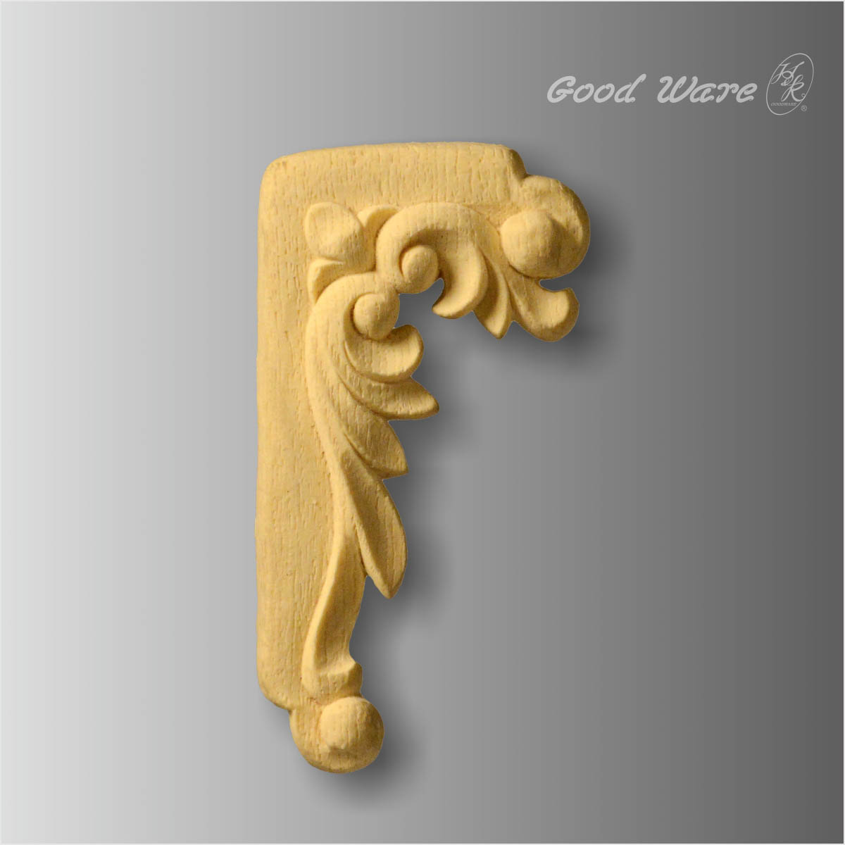 Faux wood appliques for kitchen cabinets