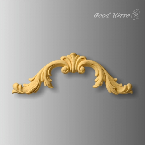 Decorative faux wood onlays and appliques