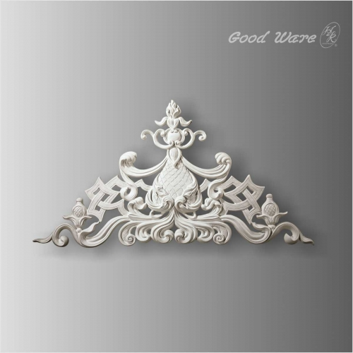 Large polyurethane 3d panels wall decor appliques