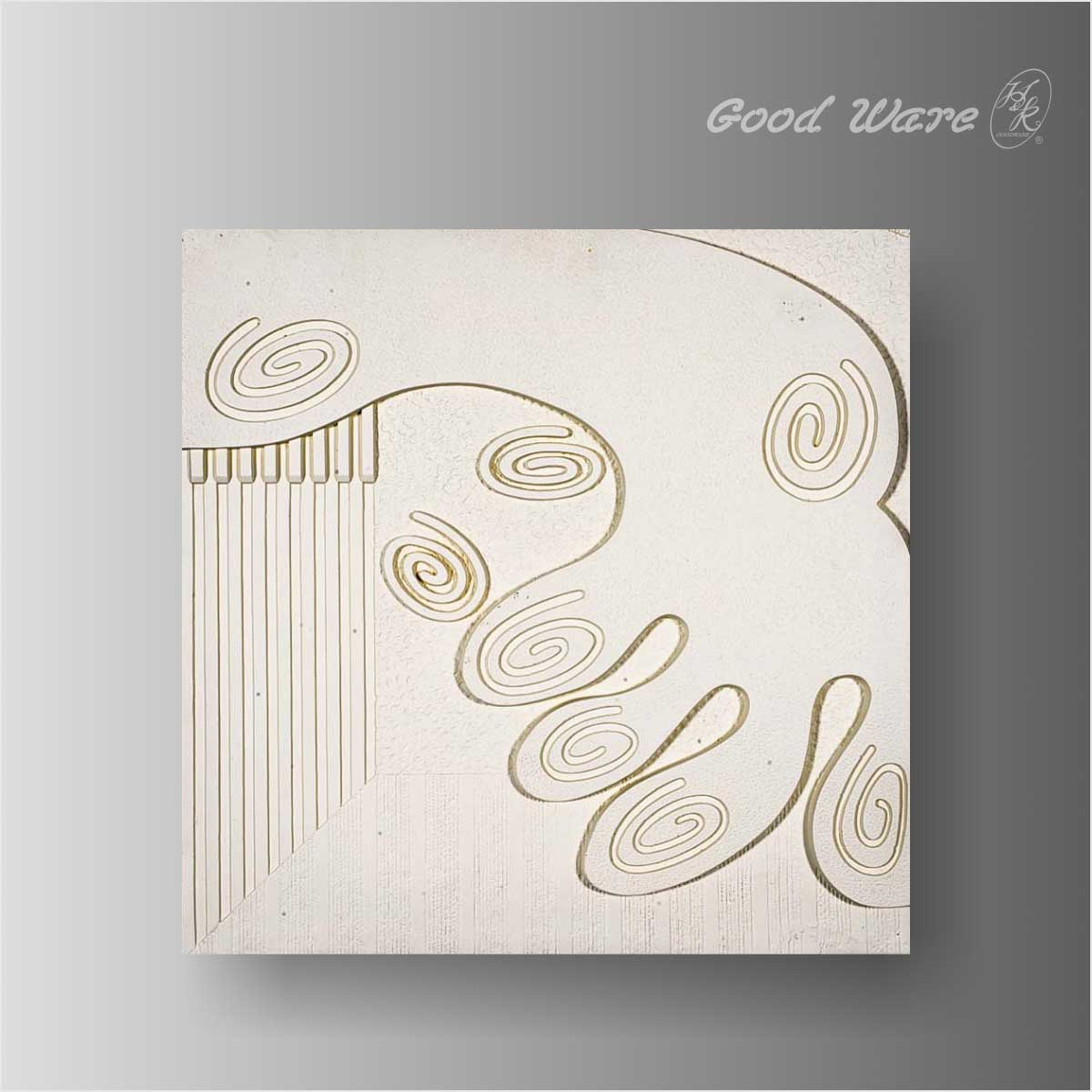 Polyurethane relief wall sculpture panel
