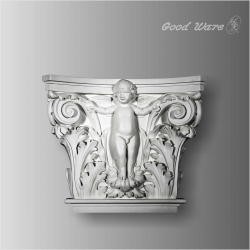 Polyurethane decorative angel capitals for columns