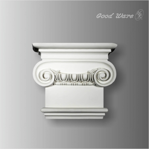 Polyurethane egg and dart ionic column capital