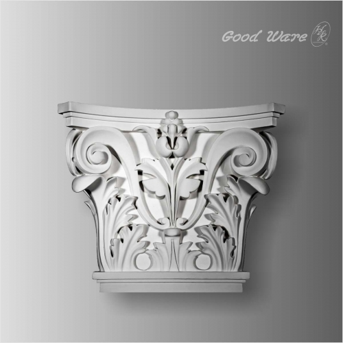 Polyurethane carved capitals for pilaster