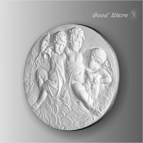 Polyurethane round wall plaques for sale