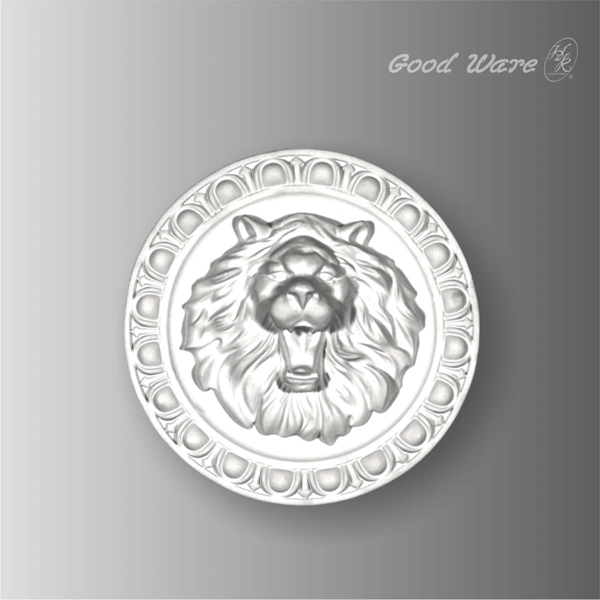 Polyurethane round lion wall decor plaques