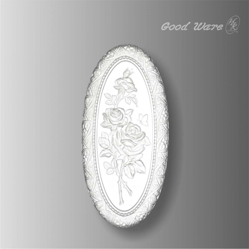 Polyurethane oval floral wall plaques