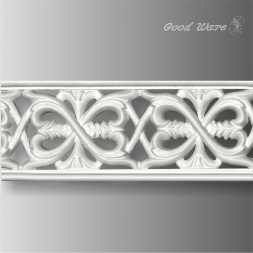 Polyurethane decorative pierced trim moulding