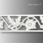WP-1663 Polyurethane floral pierced trim and moulding