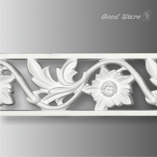 Polyurethane floral pierced trim and moulding