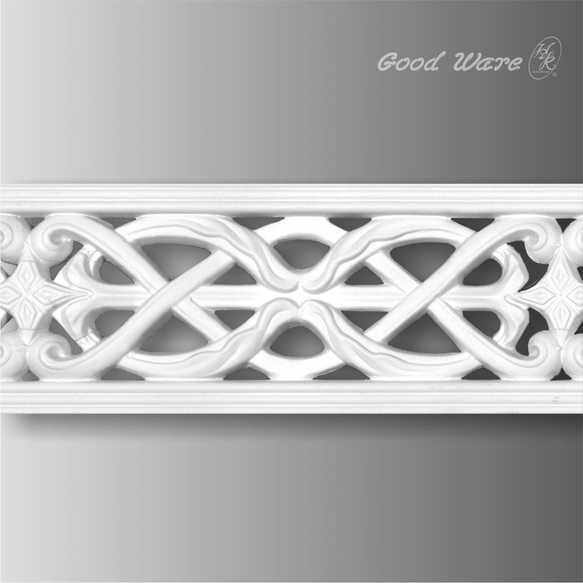 Polyurethane decorative pierced moulding trim