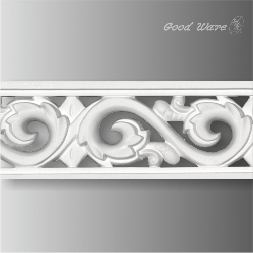 Decorative chair rail pierced moulding and trim