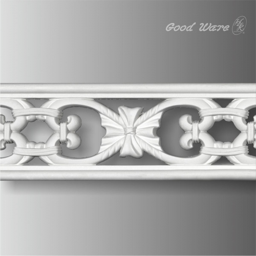 Polyurethane decorative pierced flat trim moulding