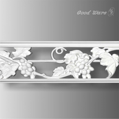Grape design pierced wide trim molding