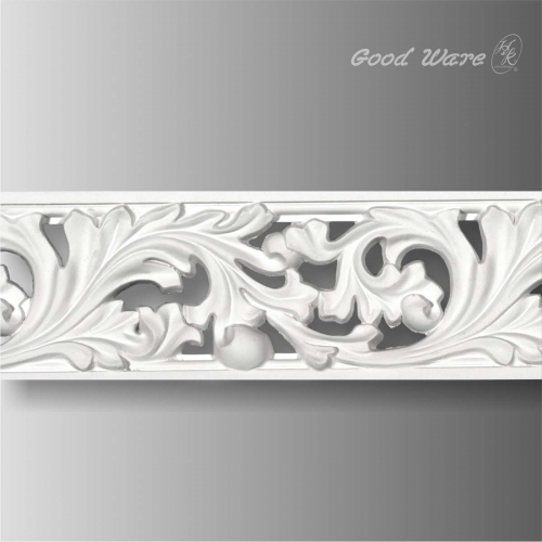 Pierced scroll acanthus white interior trim